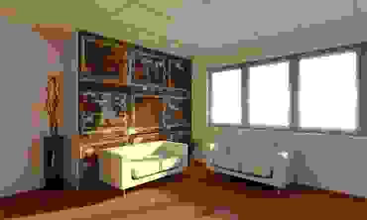 Render sala d'attesa Complesso d'uffici moderni di OGARREDO Moderno