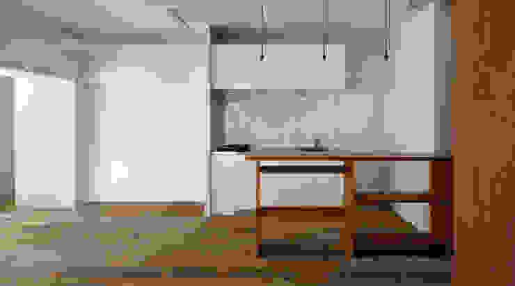 西葛西の住居 インダストリアルデザインの ダイニング の 蘆田暢人建築設計事務所 Ashida Architect & Associates インダストリアル