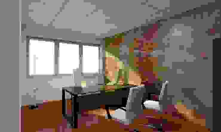 Render ufficio direzionale Complesso d'uffici moderni di OGARREDO Moderno