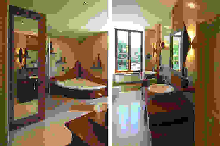 Salle de bains Salle de bain coloniale par ARMOR ARCHITECTURE ASSOCIES Colonial