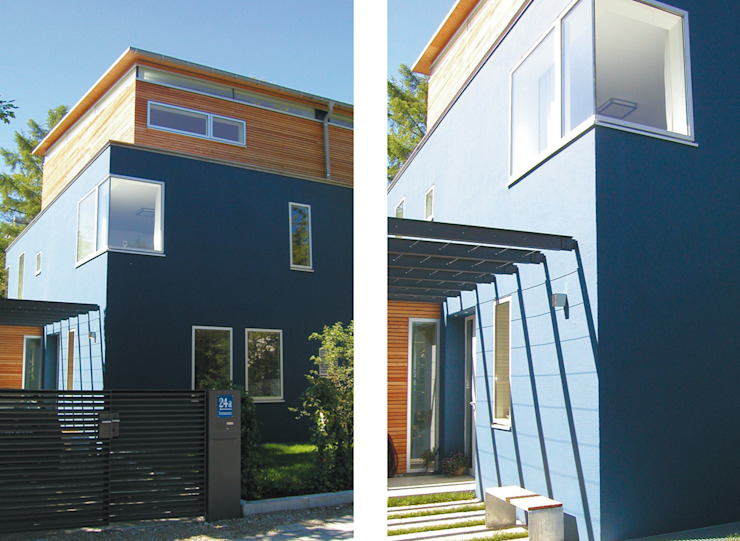 Fassadendetail Moderne Häuser von heidenreich architektur Modern