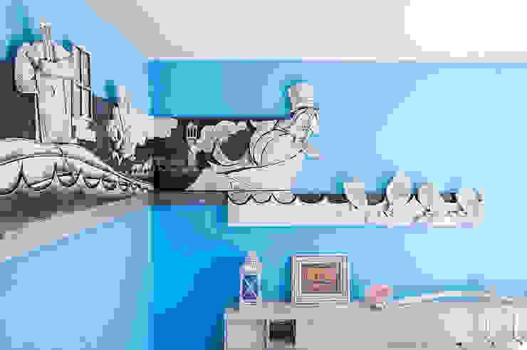 """Camera """"Il Tricheco e il Carpentiere"""" Hotel in stile eclettico di Studio Giorgi Barbieri Architetti Eclettico"""