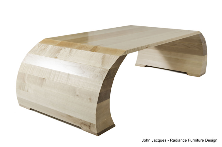 Strata Ripple Sycamore Coffee Table: modern  by Radiance Furniture Design, Modern