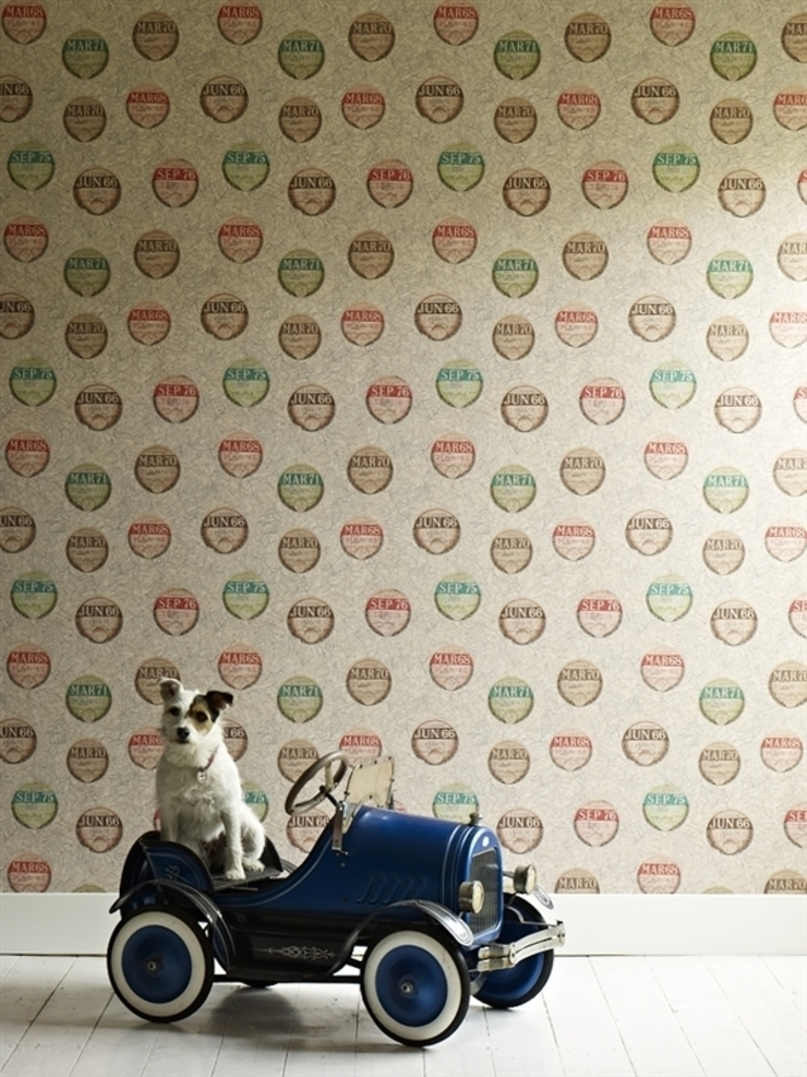 Wallpaper from Mister Smith interiors: eclectic  by Mister Smith Interiors, Eclectic