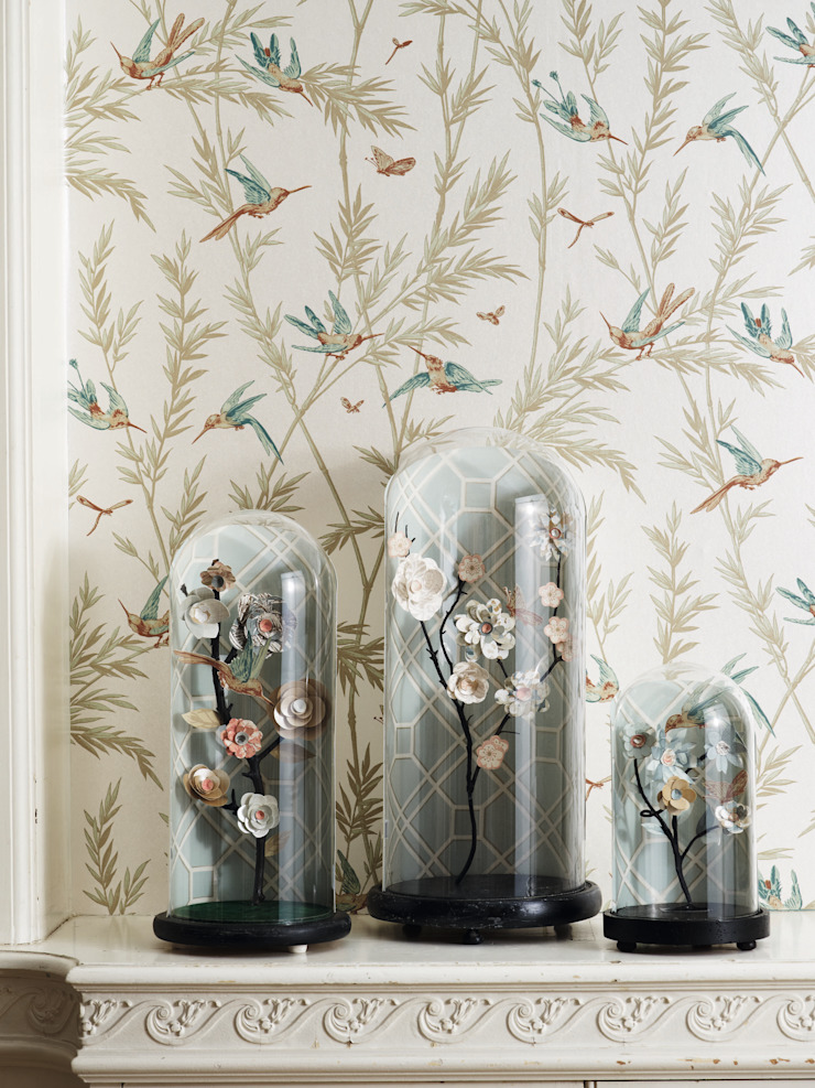 Hummingbirds Wallpaper: country  by Mister Smith Interiors, Country