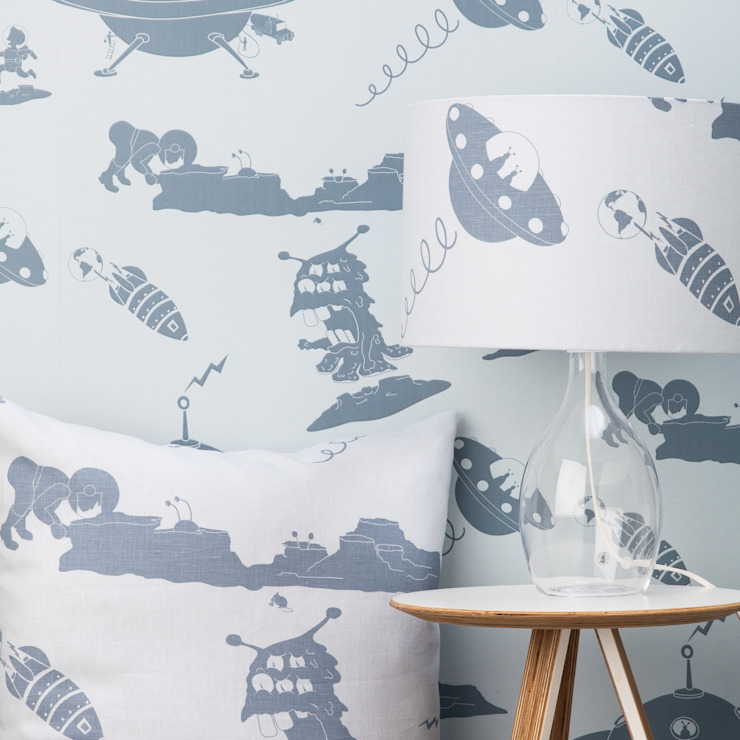 Kids wallpaper : eclectic  by Mister Smith Interiors, Eclectic