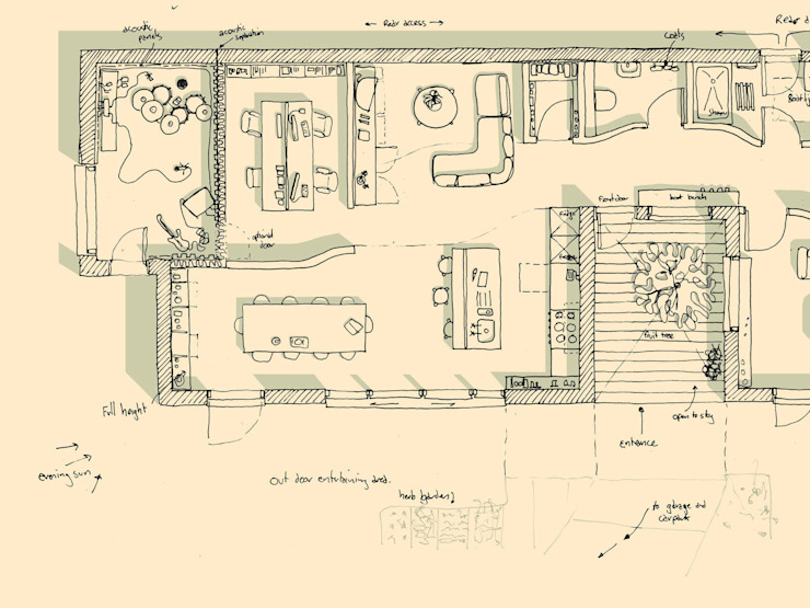 Concept Sketch Plan de Facit Homes