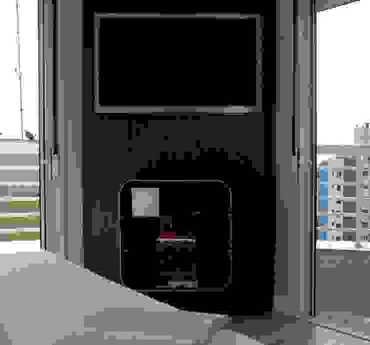 Projeto arquitetônico de interiores para residência unifamiliar. (Fotos Lio Simas) Quartos ecléticos por ArchDesign STUDIO Eclético