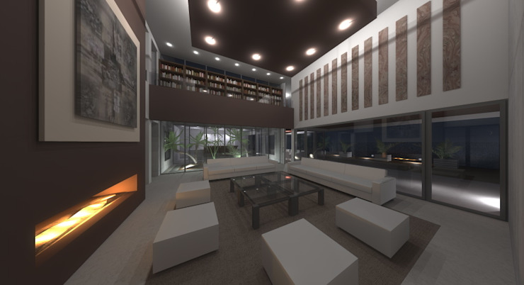 VIVIENDAS Salones de estilo moderno de ELEMENT-OS. Arquitectura, Interiorismo, Urbanismo Moderno