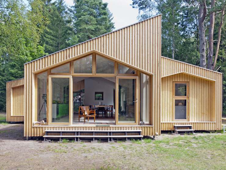 Timber Clad Exterior Facit Homes Wooden houses