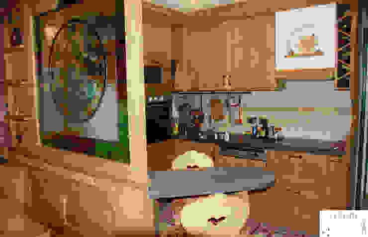 Casa Maddalena : calore montano. Cucina in stile rustico di Arredamenti Brigadoi Rustico