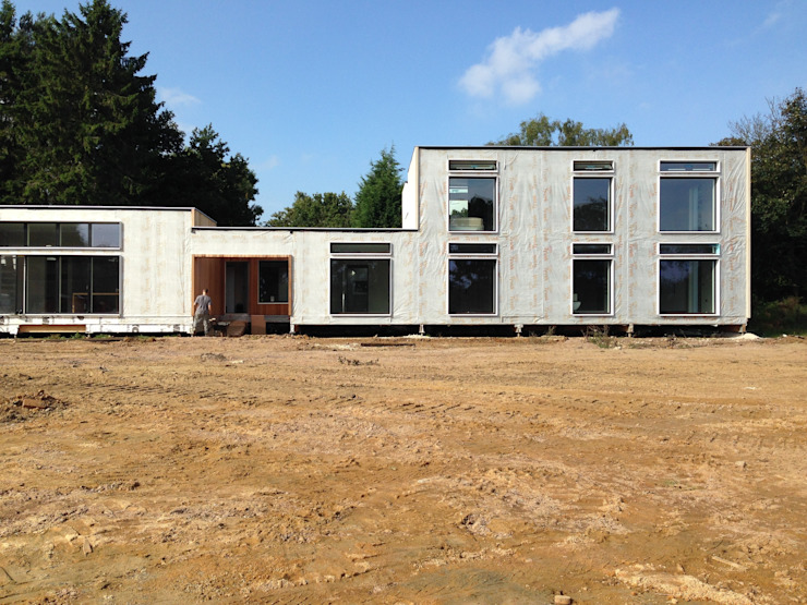 Exterior ready for cladding by Facit Homes
