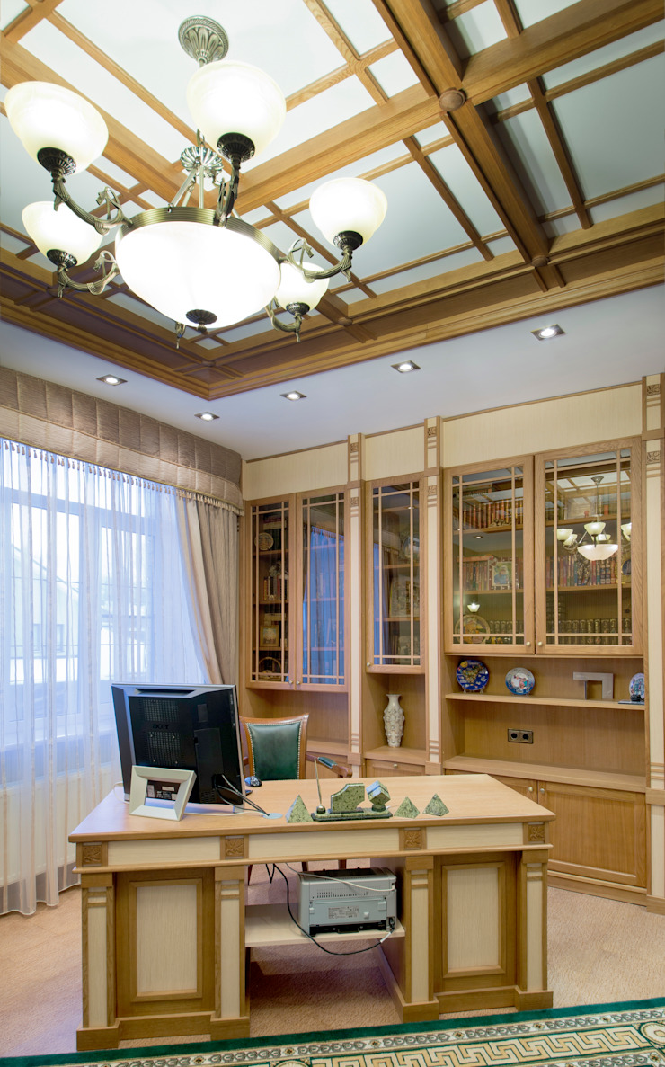 art nouveau interior Classic style study/office by ps-design Classic