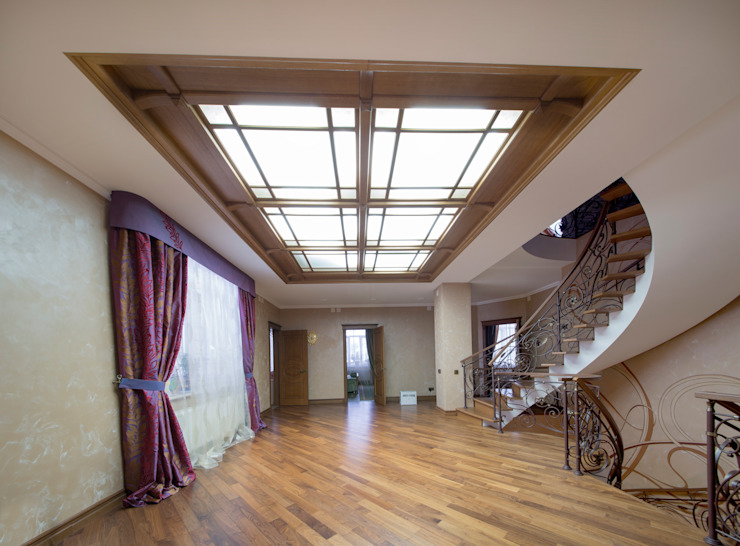 art nouveau interior Classic style corridor, hallway and stairs by ps-design Classic