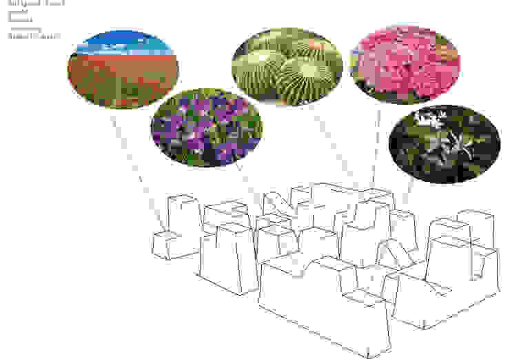 Giardino in cassetta Giardino eclettico di alkostudio Eclettico