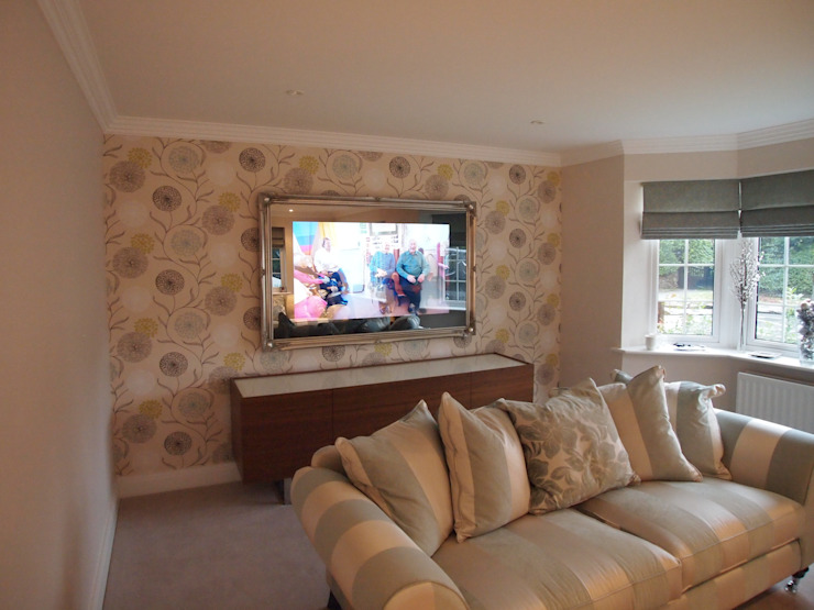 Traditional Framed Mirror TV: eclectic  by Designer Vision and Sound, Eclectic