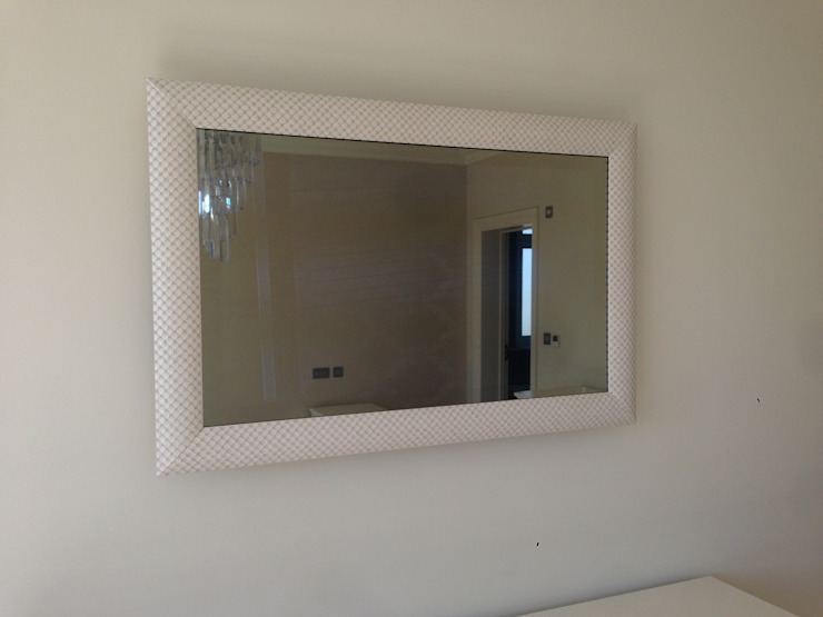 Designer Framed Mirror TV Modern style bedroom by Designer Vision and Sound Modern