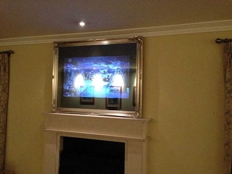 Traditional Framed Mirror TV Modern living room by Designer Vision and Sound Modern