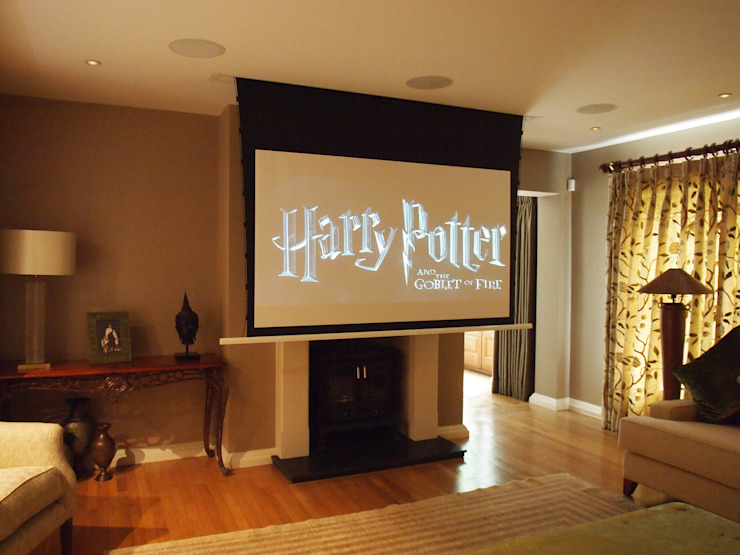 Hidden Cinema room Classic style media room by Designer Vision and Sound Classic