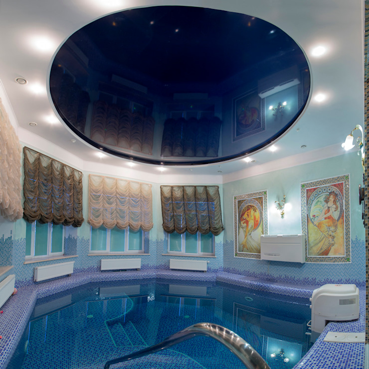 art nouveau interior Classic style pool by ps-design Classic