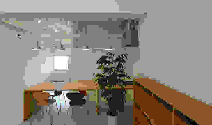 coworking ruimte in 5th Avenue Moderne studeerkamer van SHUSAKU MATSUDA & ASSOCIATES, ARCHITECTS Modern