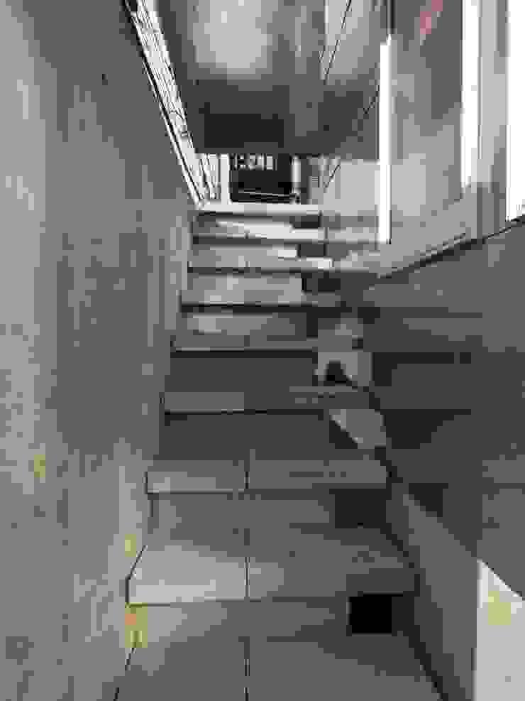 外部階段 モダンスタイルの 玄関&廊下&階段 の 濱嵜良実+株式会社 浜﨑工務店一級建築士事務所 モダン