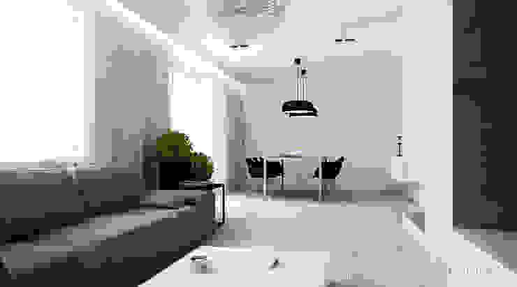 Salon z jadalnią Minimalistyczny salon od STUDIO MAC Minimalistyczny