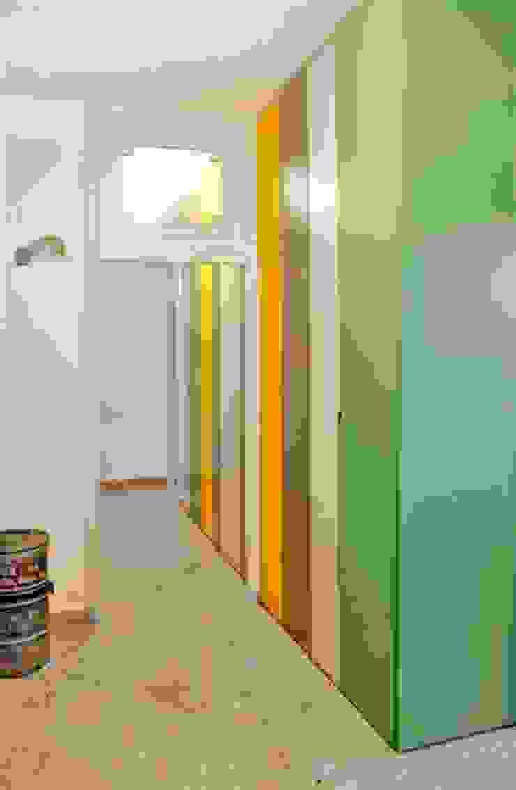 FattoreQ fabbrica Eclectic style corridor, hallway & stairs