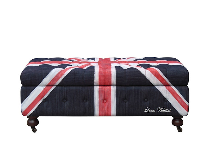 Chesterfield Ottoman (Union Jack Series): modern  by Locus Habitat,Modern
