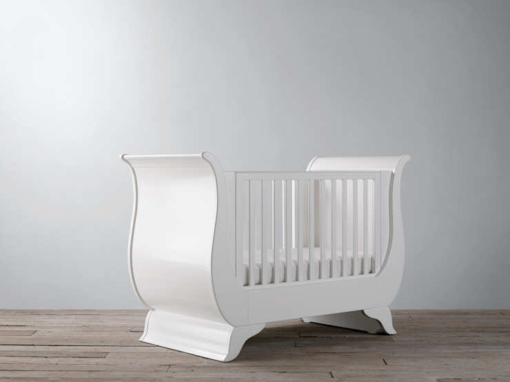 Nestor Sleigh Cot Bed : classic  by Custard & Crumble, Classic