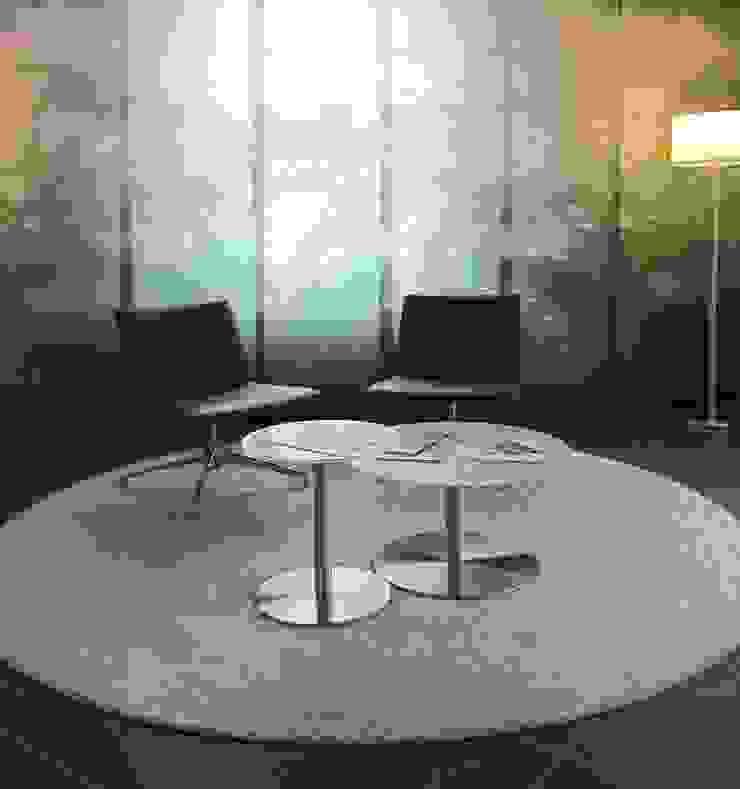 Sitzgruppe im Foyer Moderne Bürogebäude von hansen innenarchitektur materialberatung Modern