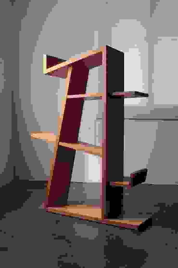 Tarantallegra bookcase: The QUAD woodworks 의 현대 ,모던