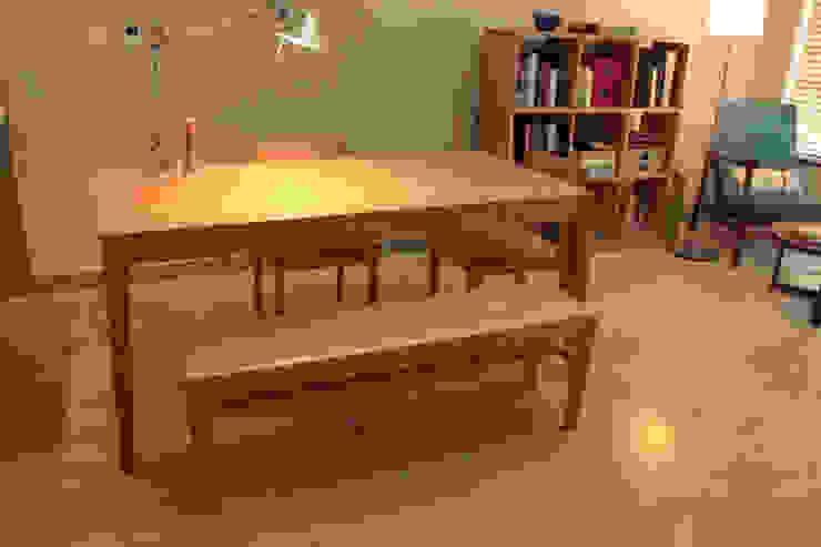 Oblique table: The QUAD woodworks 의 현대 ,모던