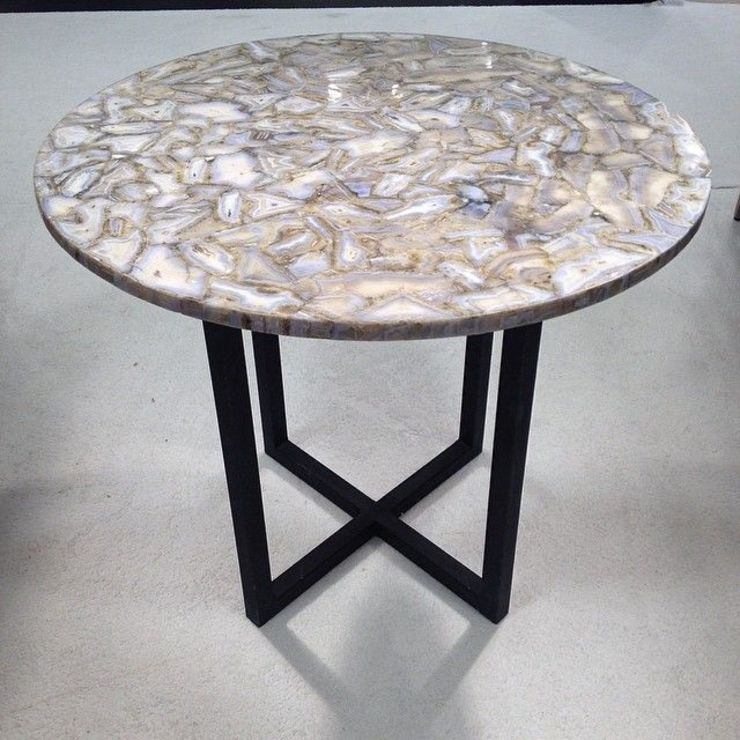 Blue Lace Agate Table Stonesmiths - Redefining Stone-Age Living roomSide tables & trays