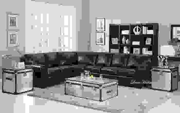 Leather Black Sofa: modern  by Locus Habitat,Modern