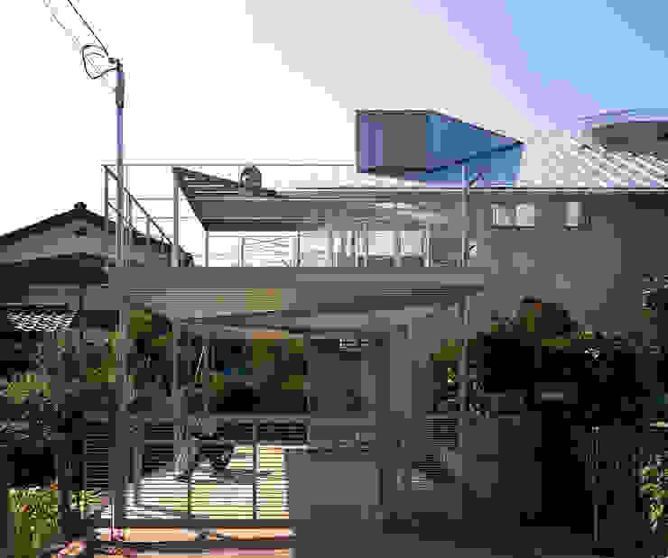 トライアングル・ハウス オリジナルデザインの テラス の 西島正樹/プライム一級建築士事務所 オリジナル