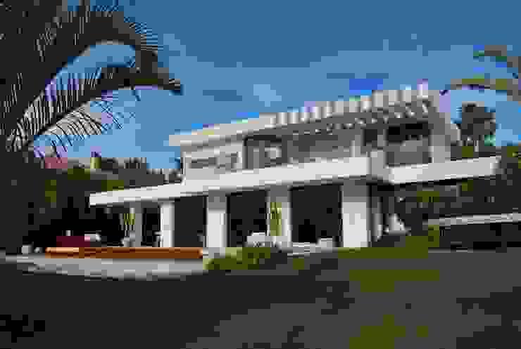 Fachada posterior Casas modernas de saz arquitectos Moderno