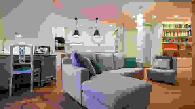 Appartamento a Garbatella Soggiorno moderno di Archifacturing Moderno