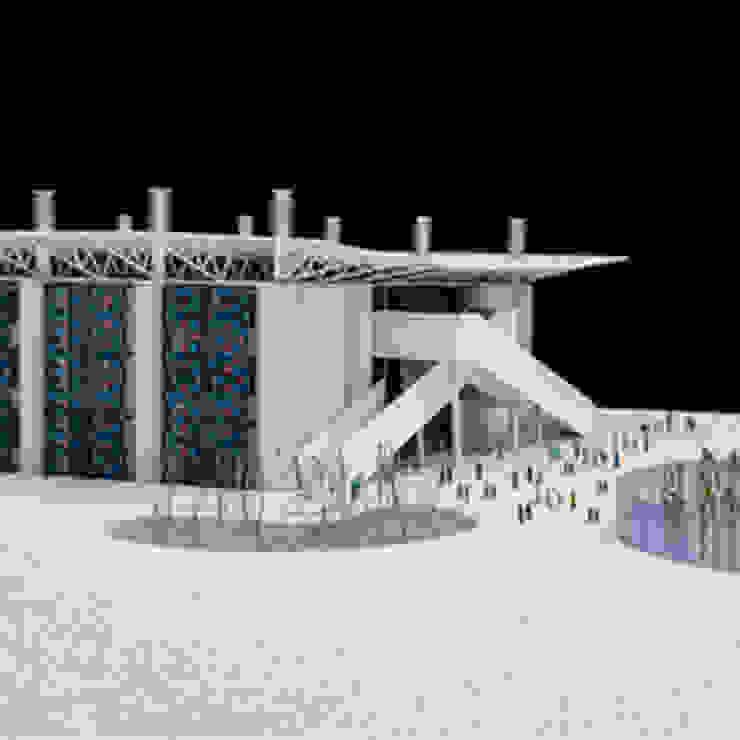 Kuwait School in Gaza, modello Ingresso, Corridoio & Scale in stile moderno di Mario Cucinella Architects Moderno
