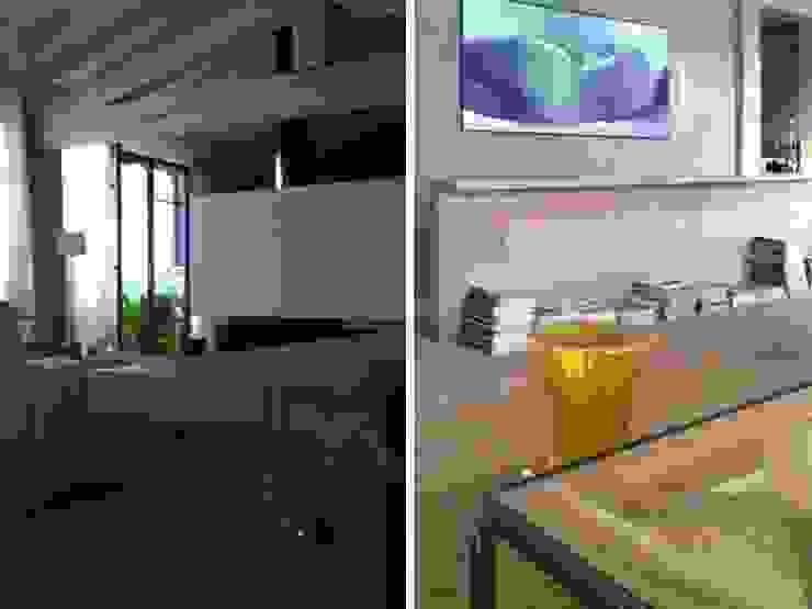 Maison bamboo Sala multimediale eclettica di Studio Maggiore Architettura Eclettico