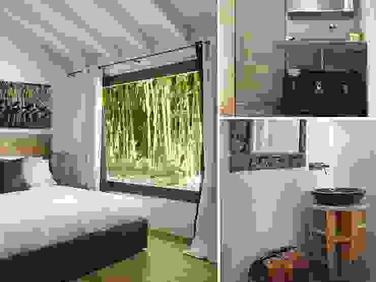 Maison bamboo Camera da letto eclettica di Studio Maggiore Architettura Eclettico