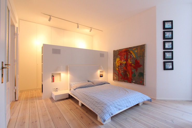 WAF Architekten Modern style bedroom
