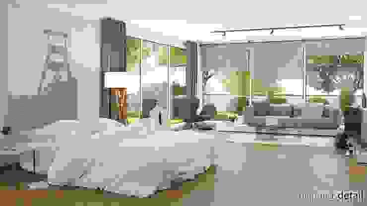 Wohn-Schlafbereich Moderne Wohnzimmer von planungsdetail.de GmbH Modern