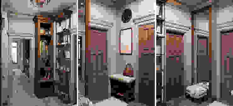Проект в стиле RH Коридор, прихожая и лестница в рустикальном стиле от M-project Рустикальный
