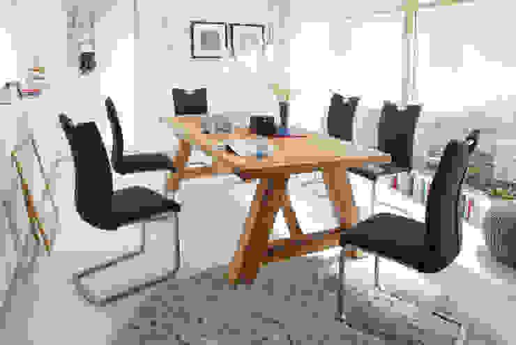 Stół drewniany BIENO Skandynawska jadalnia od mebel4u Skandynawski
