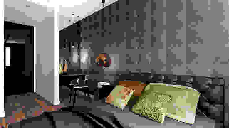 Apartament Wiślane Tarasy Nowoczesna sypialnia od MONOstudio Nowoczesny
