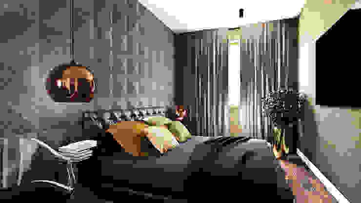 モダンスタイルの寝室 の MONOstudio モダン