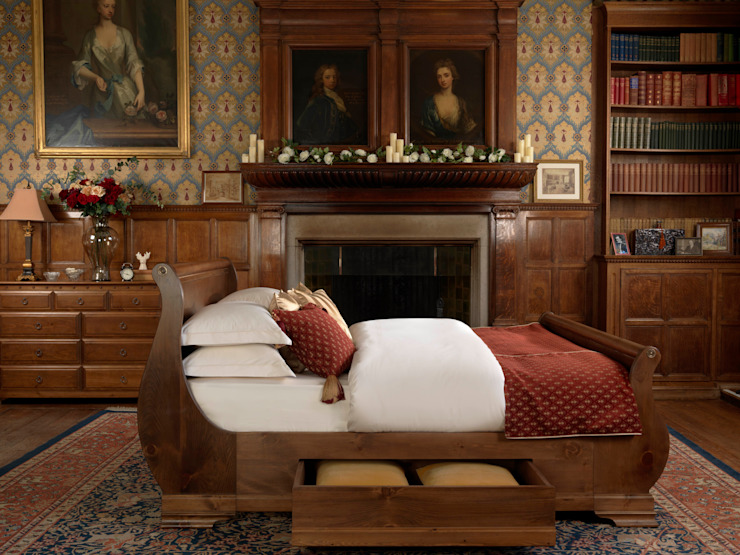 The Camargue Sleigh Bed: classic  by Revival Beds, Classic