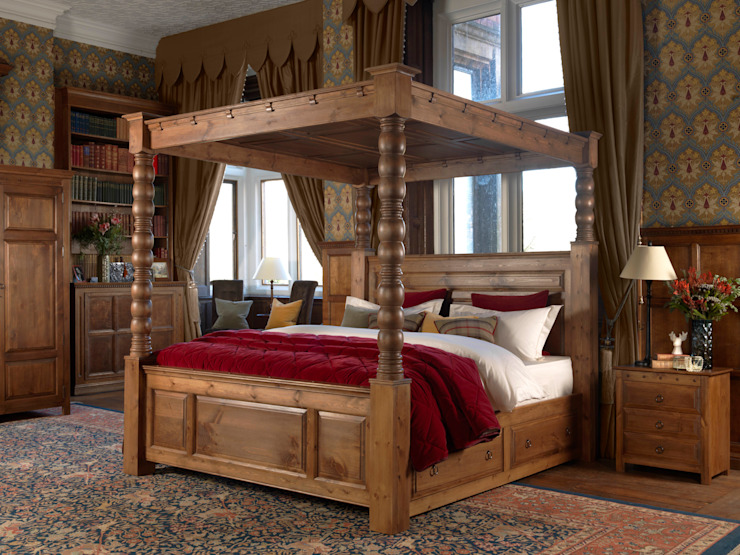 The Ambassador Four Poster Bed de Revival Beds Clásico