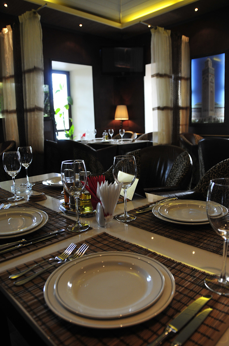 Проект интерьера ресторана <q>Сахара</q> Бары и клубы в колониальном стиле от Antica Style Колониальный